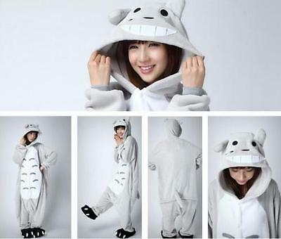 Hot Totoro Unisex Adult Kigurumi Pajamas Anime Cosplay Costume Onesie Sleepwear
