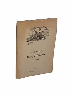 Bosque County Texas Local History Genealogy Signed