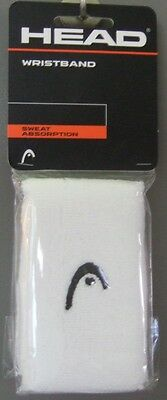"New Head 5"" double-wide Tennis wristbands White wristband Logo Style"