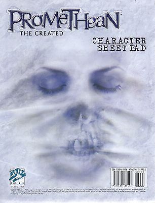 PROMETHEAN-THE CREATED-Character Sheet Pad-RPG-Roleplaying Game-new-sealed