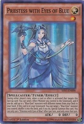 Priestess with Eyes of Blue (SHVI-EN098) - Super Rare - Near Mint - 1st Edition
