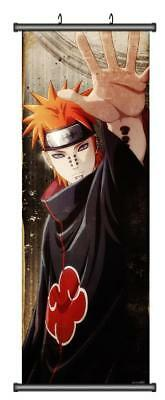 Anime Naruto Akatsuki Member Pain Home Decor Poster Wall Scroll 45*125CM H09