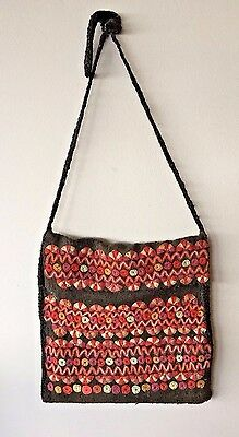 Boiled Wool Hand Embroidered Bag