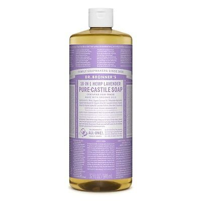 Dr. Bronner's Lavender Organic Liquid Soap 944ml| Bronners, Pure Castile
