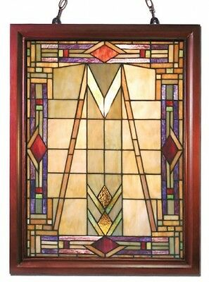 Tiffany-style Mission Glass Window Panel