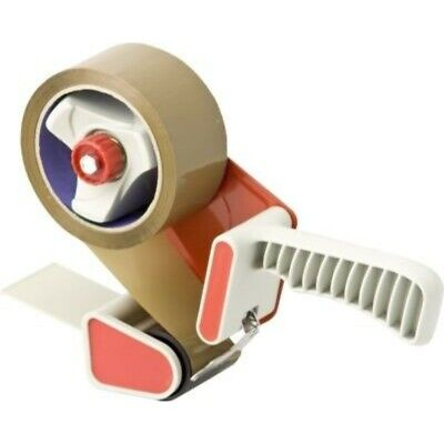Packing Tape Dispenser Tape Gun With 2 Rolls Brown & Clear Parcel Tapes 48Mmx66M