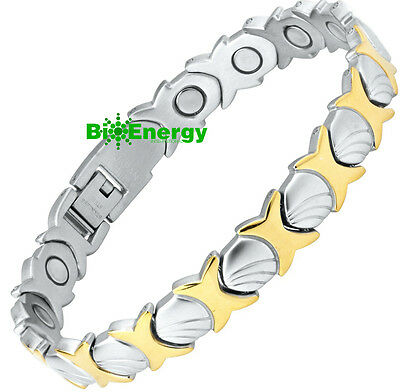 STAINLESS Magnetic Energy  Armband  Power Bracelet Health  Bio MAGNET