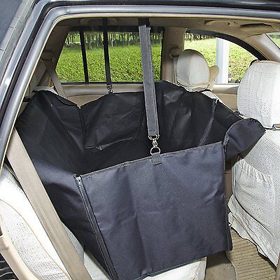 GHB Waterproof Car Rear Seat Cover for Pets,  Zips on Both Sides, Higher Quality