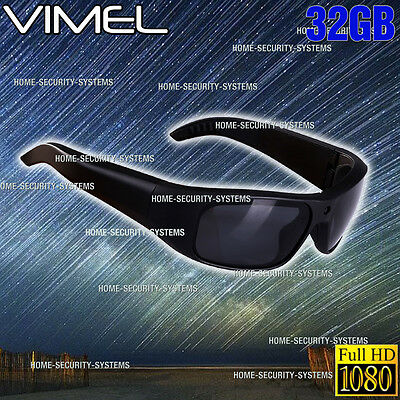 Camera SunGlasses Ski Sport Waterproof 1080P HD Video Glasses  Action Security