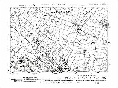 Scrooby old map Nottinghamshire 1900 6NW repro Scaftworth