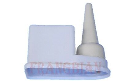 Non Spill Glue Pot and Brush Cement Keeper Anti Evaporation Leather Craft + burs