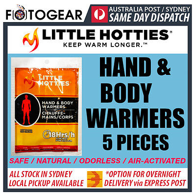 Little Hotties Hand & Body Warmers 5 Pack Heat Pack 18 Hours Sport Hot Socks