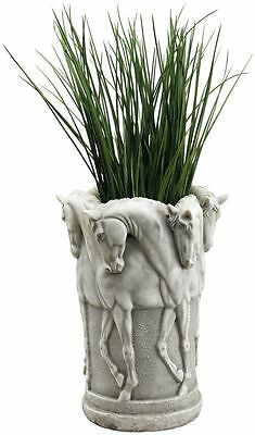 Ancient Greek Vessel Of Stadium Horse Racing Chariots Adorned Vase Pot Home