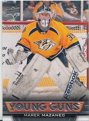 "2013-14 Upper Deck Series Two ""Young Guns"" Rookie RC # 468 Marek Mazanec"