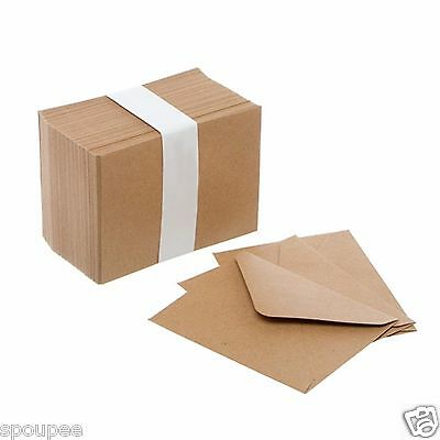 50 Mini Kraft Envelopes Small For Cards Tags Thank You Wedding Wishes Rsvp Brown
