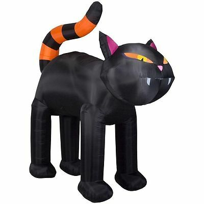 Halloween 9 Ft Black Cat Inflatable Airblown Gemmy Yard Decoration
