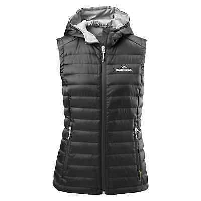 Kathmandu Heli Womens Lightweight Duck Down Warm Insulated Puffer Vest v2 Black