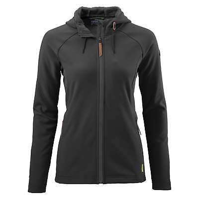 Kathmandu Malazan Womens Water Resistant Hooded Softshell Fleece Jacket v4 Black