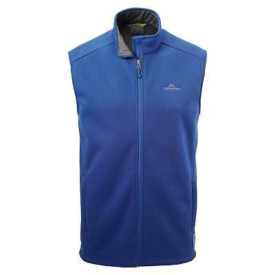 Kathmandu Ohau Mens Windproof Zip Up Warm Winter Fleece Vest Blue