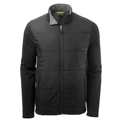 Kathmandu Ohau Mens Windproof Zip Up Warm Winter Fleece Jacket Black