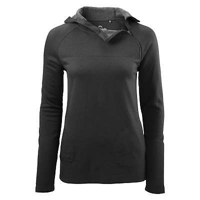 Kathmandu Bask Womens Merino Wool Hooded Pullover Warm Hoodie Jumper Black