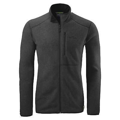 Kathmandu Disperse Mens Quick Drying Breathable Active Fleece Jacket Black