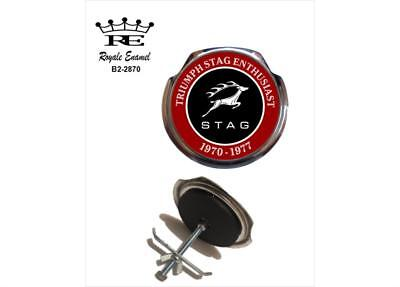 Royale Classic Car Grill Badge + Fittings - TRIUMPH STAG ENTHUSIAST - B2.2870