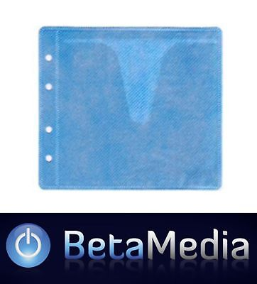 300 x Blue CD / DVD Double Sided Plastic Sleeves - Holds 600 discs