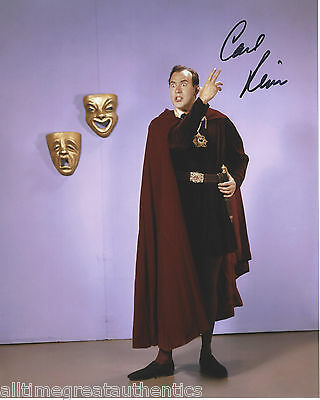 CARL REINER SIGNED AUTHENTIC SID CAESARS HOUR 8X10 PHOTO B w/COA ACTOR COMEDIAN