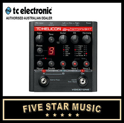 Tc Electronic Harmony G Xt Vocal & Guitar Effect Pedal New Gxt Harmonizer