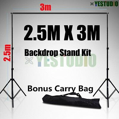 2.5x3m Photo Studio Adjustable Heavy Duty Backdrop Background Support Stand&Bag