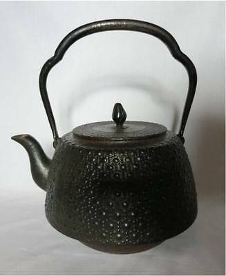 Japanese Antique old Iron Tea Kettle Tetsubin teapot Chagama #1459
