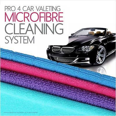 Pro 4 Car Valeting Microfibre Cleaning Cloths Thick Absorber Dryer Dust Remover