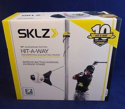NEW SKLZ Hit-A-Way 10th Anniversary Edition High-Repetition Solo Batting Trainer