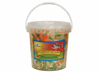 100g Tube Coldwater Poisson Rouge Aquarium Poissons De Bassin Nourriture Flocon