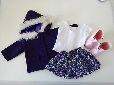 """NEW-DOLL CLOTHES_SKIRT/TOP/JACKET/BOOTS fit 18""""Doll such as  AG Dolls-Lot #234"""
