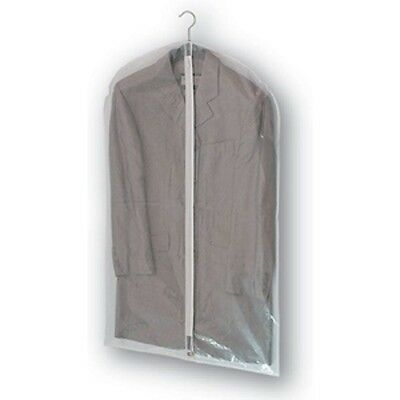 """5 X Clear Strong PEVA SUIT COVER carrier travel dress bag garment 40 x 23"""" NEW"""