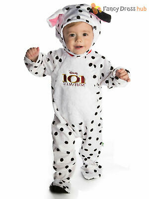 Disney Baby 101 Dalmatians Romper + Hood Dalmations Toddler Fancy Dress Costume