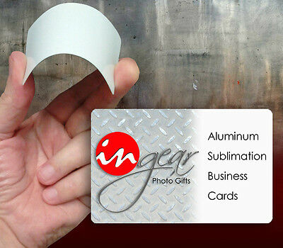 Sublimation Aluminum Business Card Blanks 100 Piece Pack, FREE SHIPPING