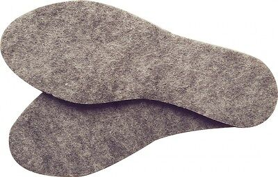 Insoles For Boots 100% Real Felt Unisex Inserts 3mm and 6mm Size 3-12
