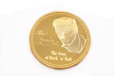 The Hillbilly Cat Elvis Presley Commemorative Coin Gold Clad New