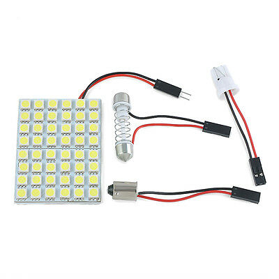 Car Interior 12V White 48 SMD 5050 LED Light Lamp Panel T10 Festoon Dome BA9S