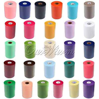 "2 TULLE Roll Spool 6""x100YD Tutu DIY Skirt Fabric Gift Wrap Bow Wedding Decor"
