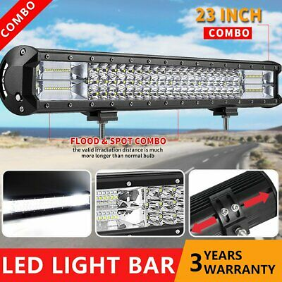 20inch CREE LED Light Bar Spot Flood Combo 12V 24V 4x4 Work Driving Lamp Offroad