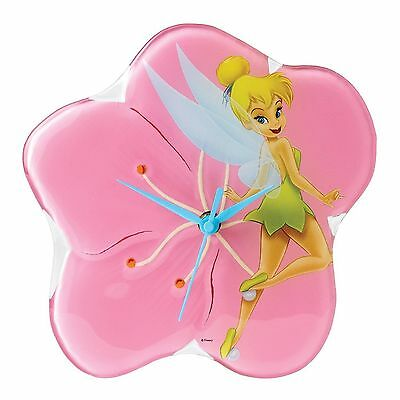 TINKERBELL Glass Wall Clock Disney Enchanting Collection A25233 BNIB Enesco
