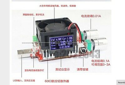 35w 4A usb electronic load constant current battery Discharge capacity tester