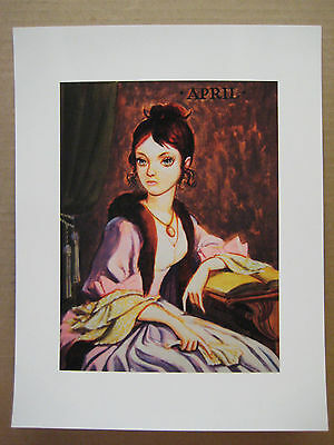 """=Disneyland Haunted Mansion Changing Portrait Painting 8.5"""" x 11"""" Poster [ 1 ]"""