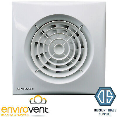 "Envirovent Silent Timer Humidistat Extractor Fan 4"" SIL100S SIL100T SIL100HT"