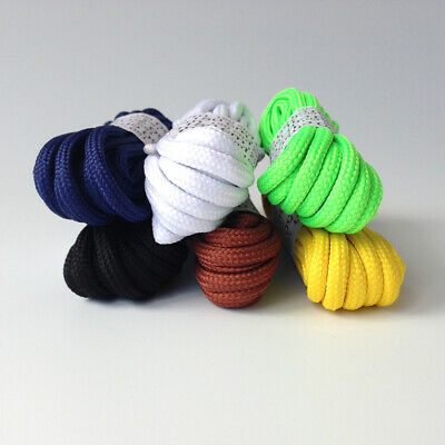 2 Pairs Round Shoe Laces Boot Shoelaces, 5mm, High Quality, UK Seller