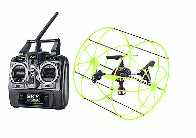 RC Mid-size Drone with Roll Cage